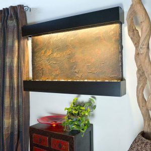 Horizon Falls Large Lightweight Slate Wall Fountain