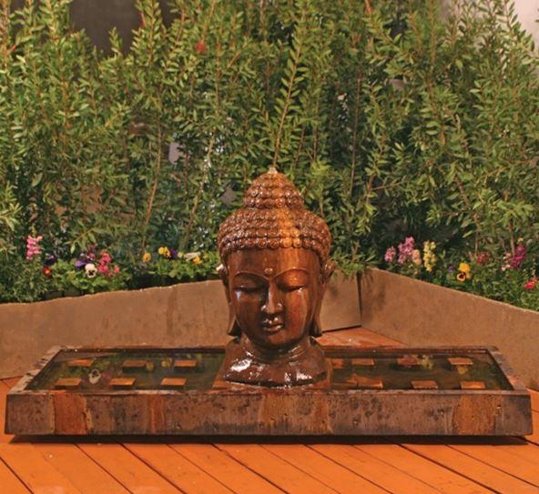 Gist Buddha Head Large Linear Fountain